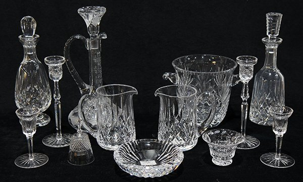 (lot of 13) Waterford crystal group, consisting of (3)