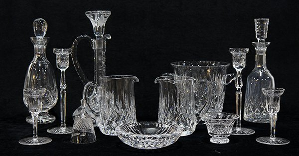 (lot of 13) Waterford crystal group, consisting of (3) - 2