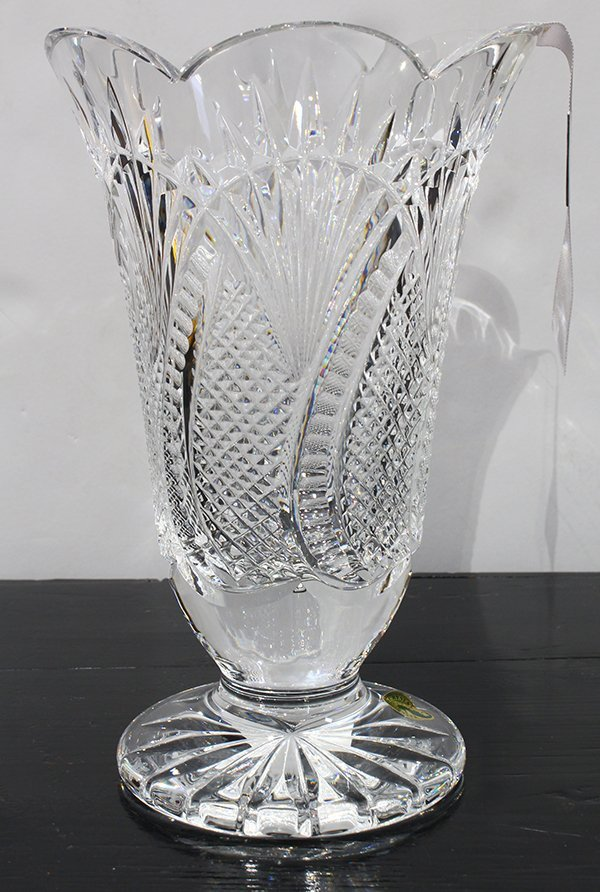 "Waterford crystal vase, in the ""Seahorse"" pattern, - 3"