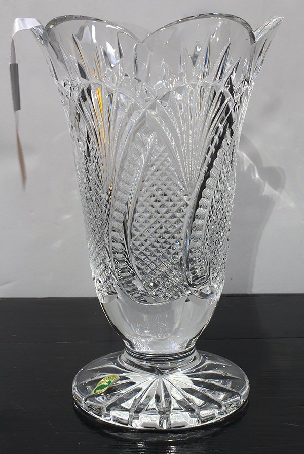 "Waterford crystal vase, in the ""Seahorse"" pattern, - 5"