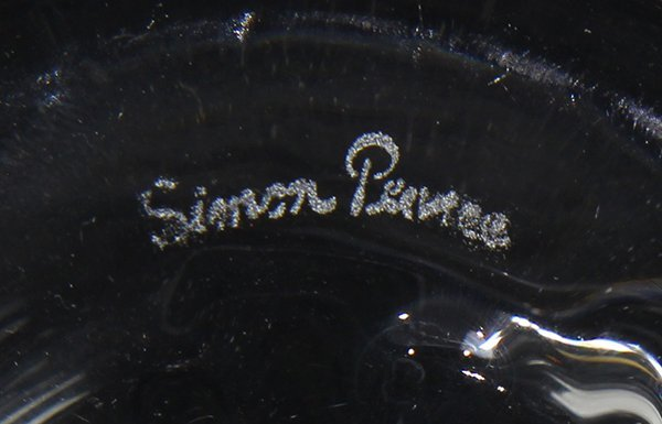 (Lot of 2) Simon Pearce and Stueben clear glass - 2