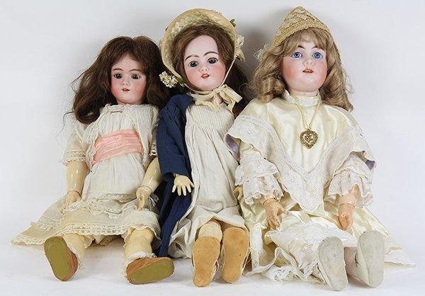 German bisque socket head dolls