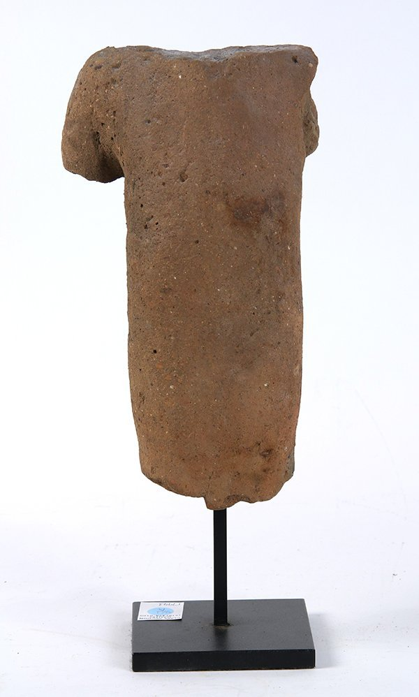Pre Columbian style terra cotta torso, depicting a - 4