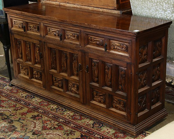 Continental Baroque style sideboard, having a
