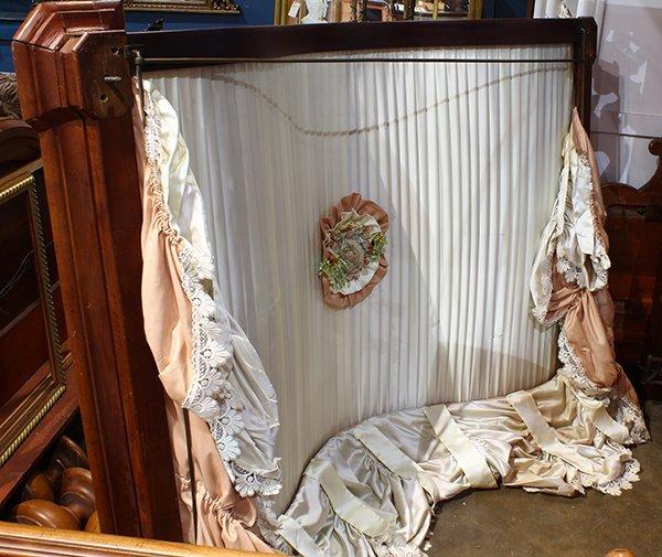 Victorian Rococo Revival mahogany half tester bed - 2
