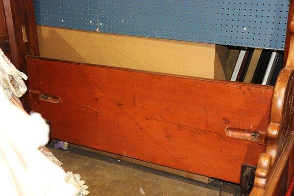 Victorian Rococo Revival mahogany half tester bed - 4