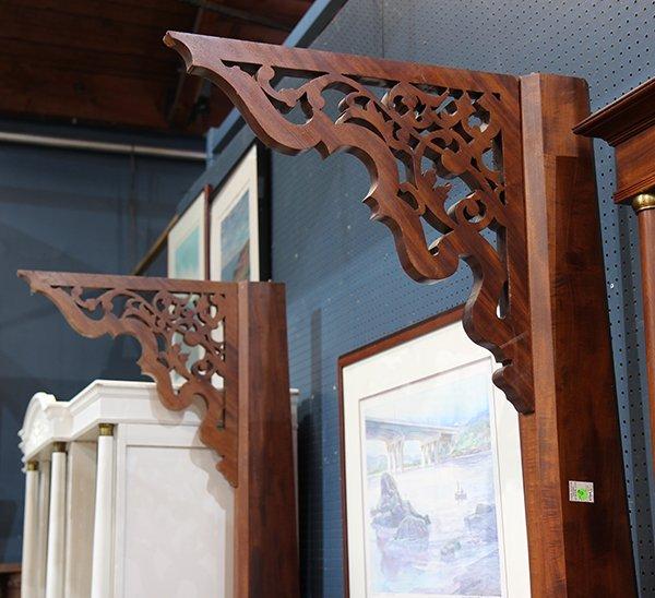Victorian Rococo Revival mahogany half tester bed - 5