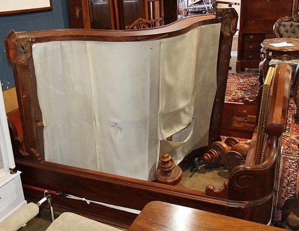 Victorian Rococo Revival mahogany half tester bed - 6