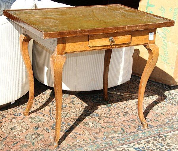 Louis XV transitional walnut writing table, third