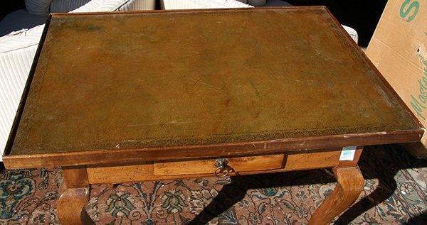 Louis XV transitional walnut writing table, third - 2