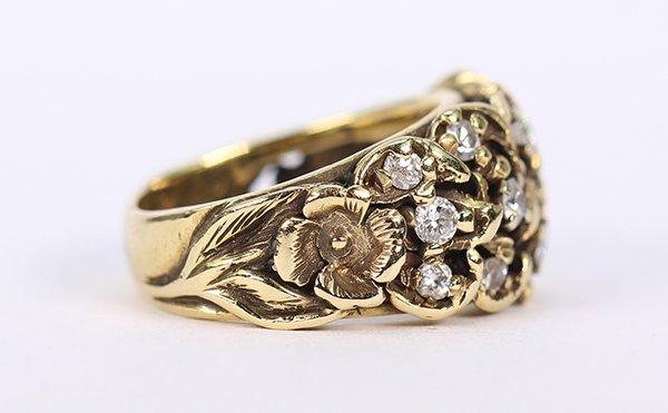 Diamond and 14k yellow gold ring - 2