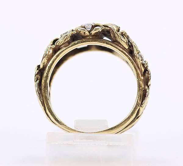 Diamond and 14k yellow gold ring - 3