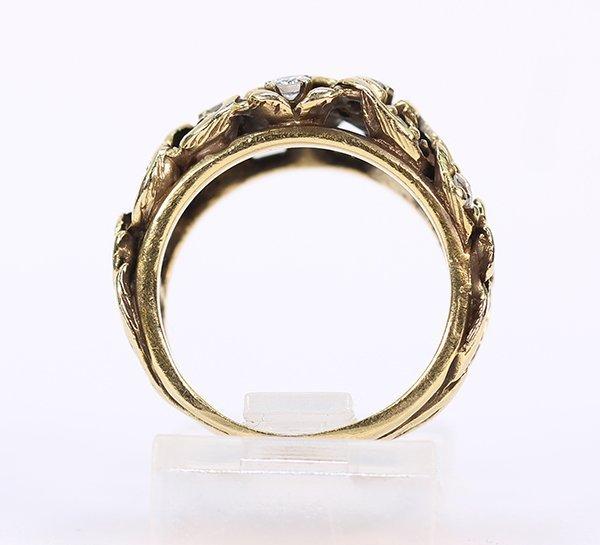 Diamond and 14k yellow gold ring - 3