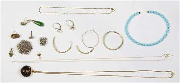 Collection of multi-stone, diamond, 14k, 18k and