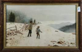 Painting, American Folk Art School, The Rabbit Hunt