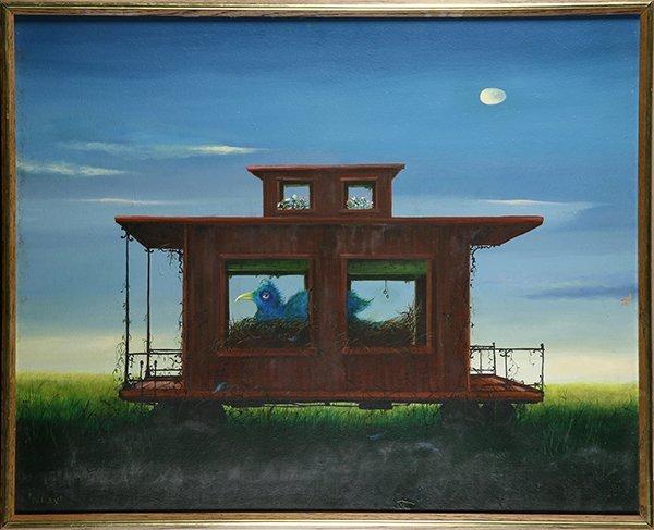 Painting, Richard Maitland, Bluebird of Unhappiness