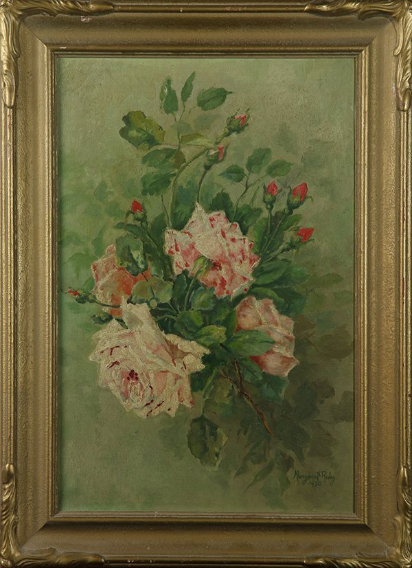 Painting, Bouquet of Pink Roses