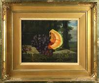 Still Life with Grapes and Melon, painting