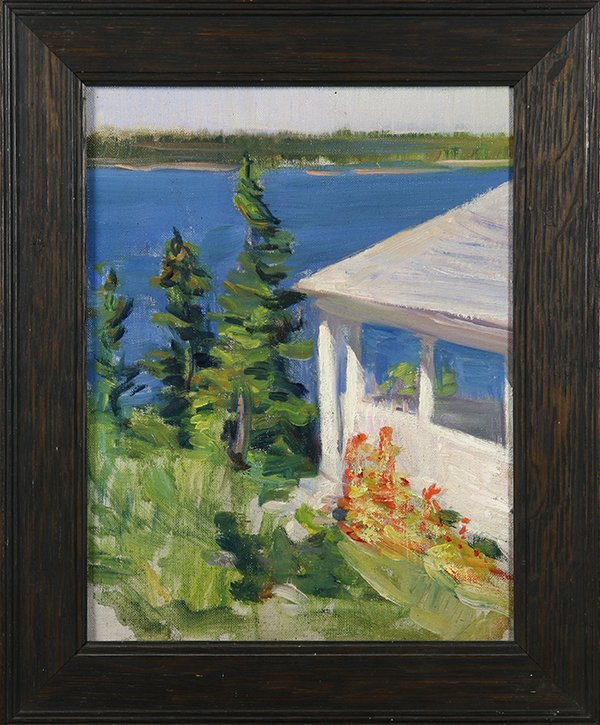 House by a Lake, painting