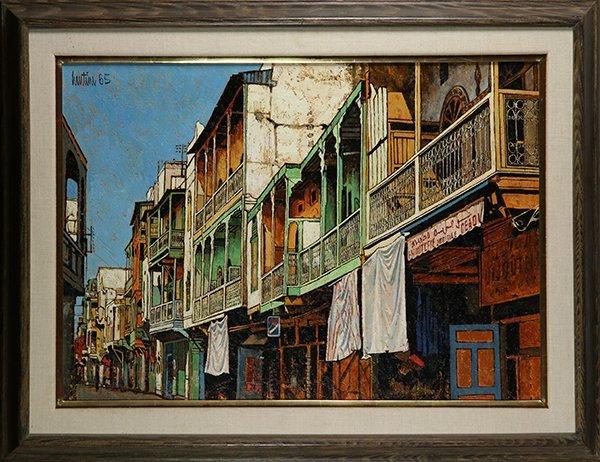 John Lentine, painting