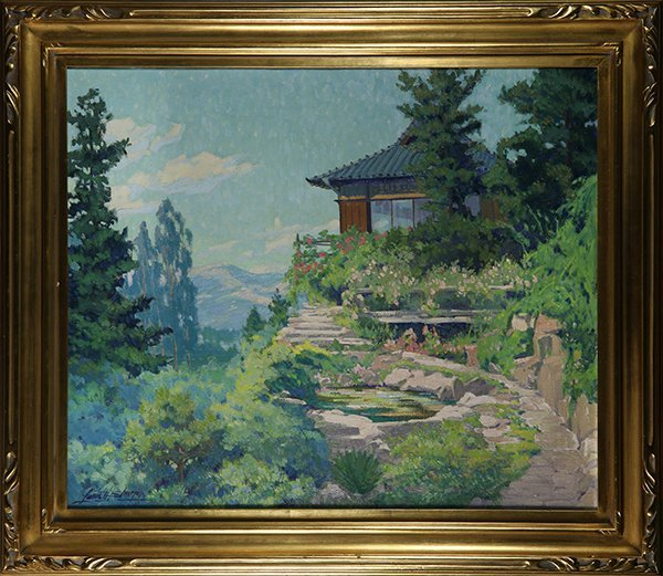 Louis Hovey Sharp, painting
