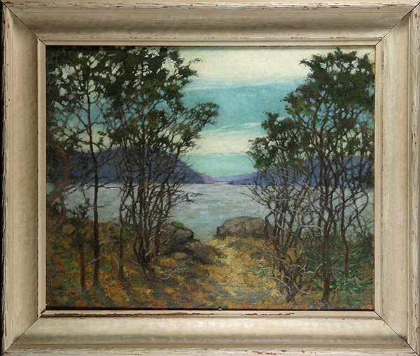 View of the Lake, painting