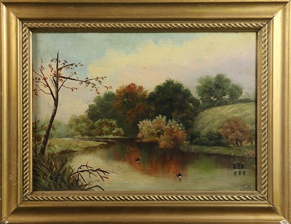 Birds on a Pond, 1892, painting