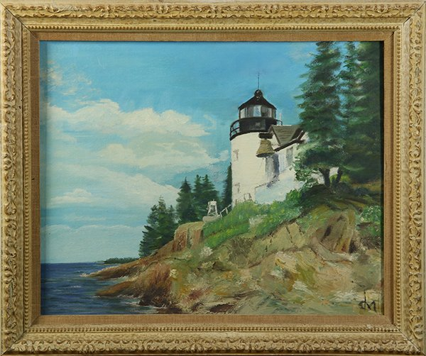 Lighthouse on a Sunny Day, painting