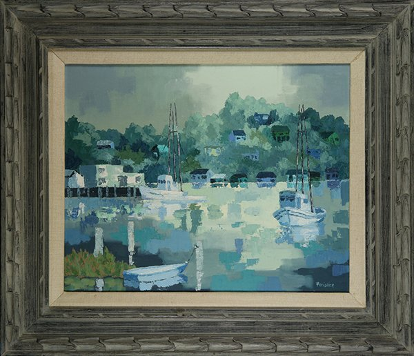 Fishing Boats Leaving the Docks, Painting