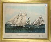 Print, Currier & Ives,The Great International Yacht