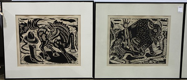 Richard Mock, linocuts - 3