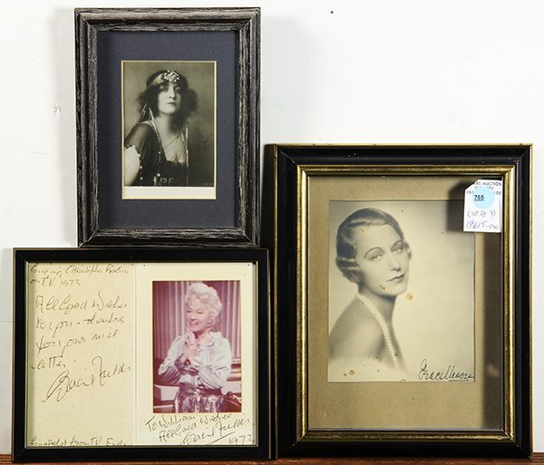 Vintage photographs, Gracie Fields and Grace Moore