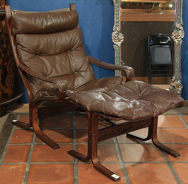Westnofa brown leather Siesta lounge chair