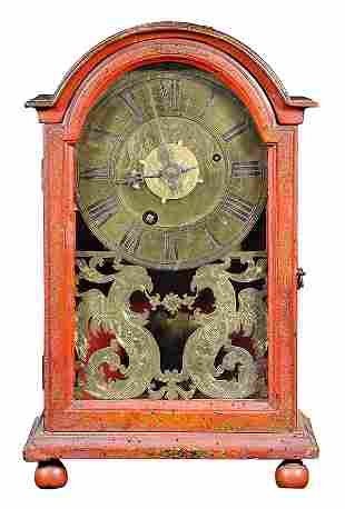 North Italian Baroque gilt and red Japanned mantle