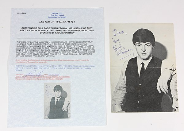 Signed Paul McCartney page