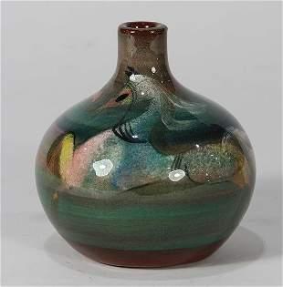 Polla Pillin Mid-Century Modern ceramic vase, having a