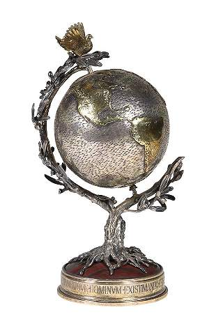 "Buccellati silver and gilt silver ""Millennium Globe"","