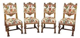 (lot of 4) American Victorian sidechairs, New York
