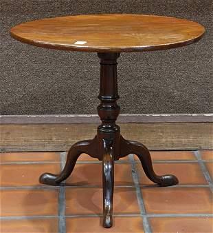 George III walnut tilt top tea table, circa 1850,