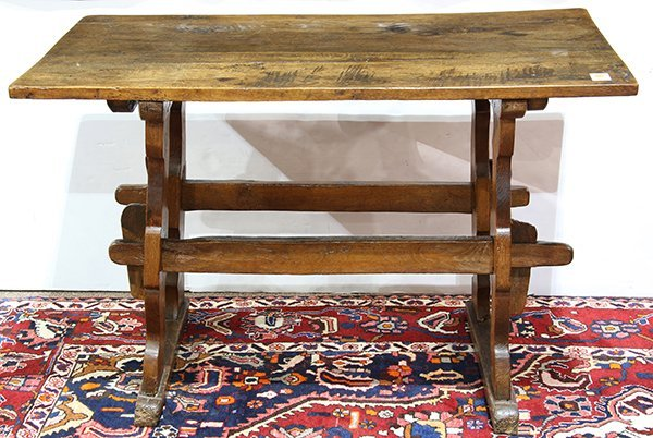 Spanish Baroque carved oak console table, 18th century,