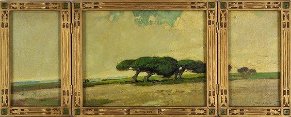 Karl Schmidt, Monterey-Oaks, 1917, triptych