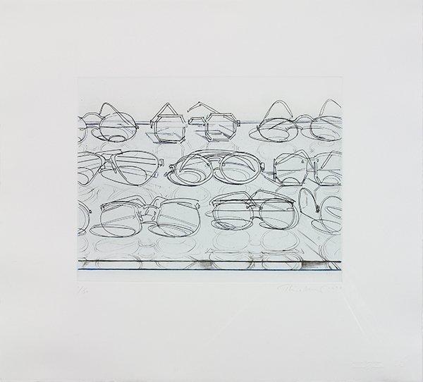 Print, Wayne Thiebaud, Eyeglasses
