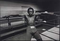 Jim Marshall, Miles Davis - Newman's Gym, SF