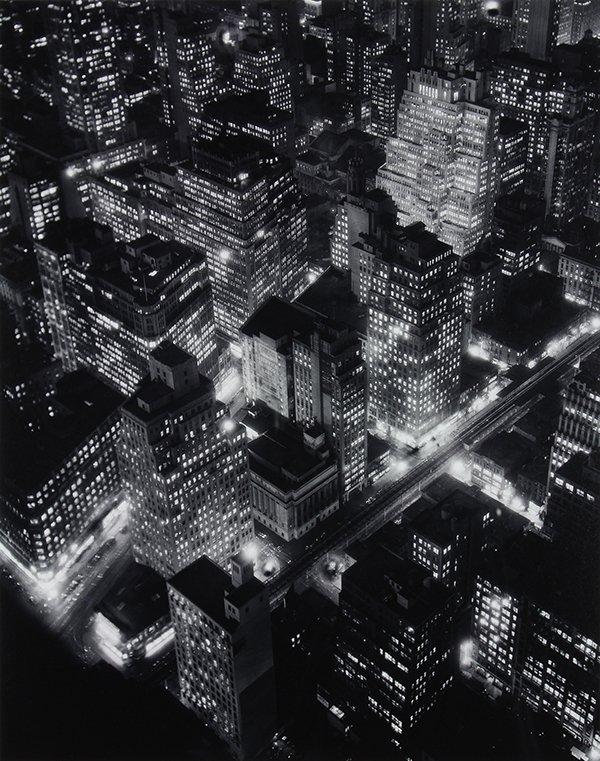 Photograph, Berenice Abbott, New York at Night