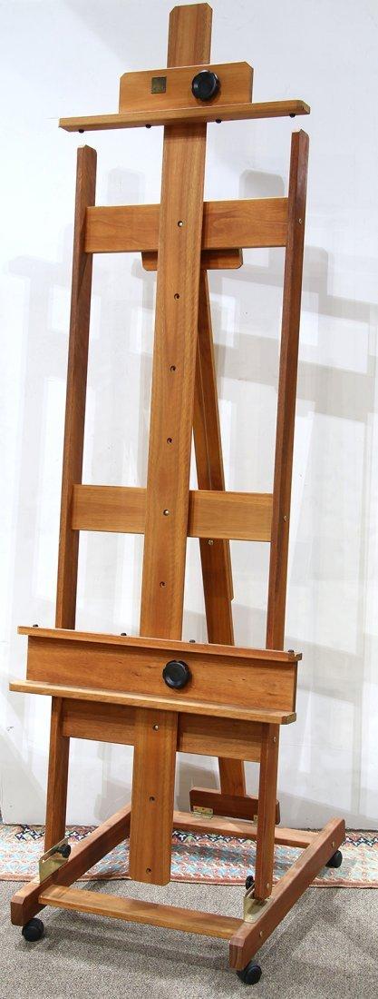 "Large Buck adjustable artist's easel, 88""h x 30""w"