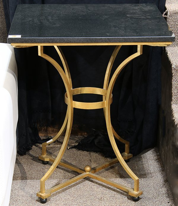 Moderne granite and gilt occasional table