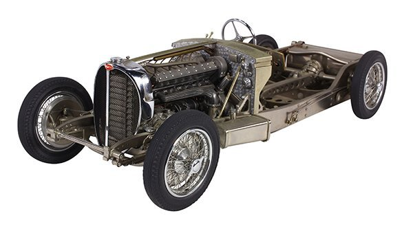 Gerald Wingrove 1:15 scale model of a 1936 Bugatti type