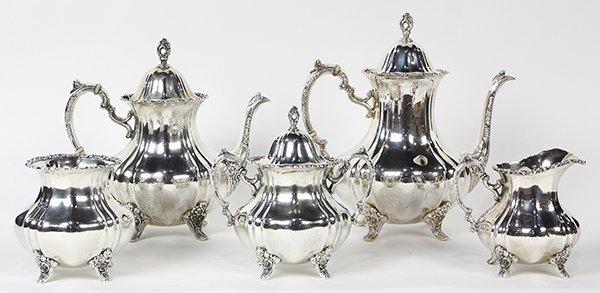 American sterling silver hot beverage service after