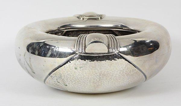 Mid-century modern sterling silver bowl, base bears