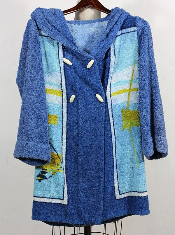 Hermes Paris terry cloth robe